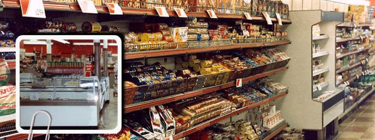 The 1984 offer of Daily Provisions at Woolworths included both groceries and delicatessen (photograph of displays at Rushey Green, Catford store courtesy of Mr Andy Hayzelden)