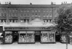 F. W. Woolworth in Terminus Road, Eastbourne, which opened in 1924