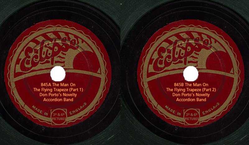 Eclipse Records 845A and 845B - The Man on the Flying Trapeze
