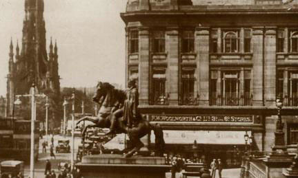 The flagship Woolworth store in Scotland in Princes Street, Edinburgh, which opened in 1926