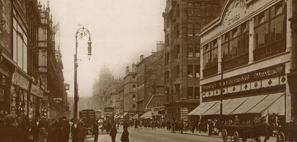 An early Scottish Woolworth's - Argyle Street, Glasgow, which opened in 1914