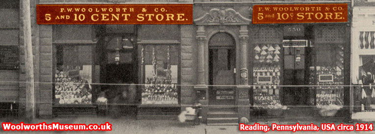 One of the original F. W. Woolworth stores in the USA - Reading, Pennsylvania, pictured in about 1914
