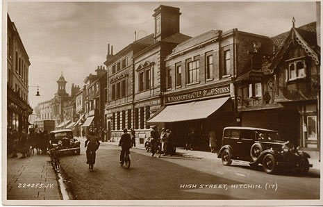 The F. W. Woolworth store at Hitchin, Hertfordshire, which opened the same year that Woolworths first stocked clothing from the Pasolds' embryonic Ladybird Company
