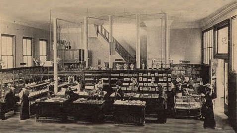 The Interior of the first Woolworth store in New York City in 1897, as recreated in the Museum of the City of New York
