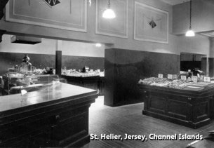 The Tea Bar at King Street, St Helier, Jersey was reinstated and re-opened in time for Christmas 1945. It was a matter of pride for the whole business to show solidarity with those colleagues who had endured the occupation.