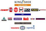 The logos of the many operating companies in the Kingfisher Goup at the turn of the new millennium