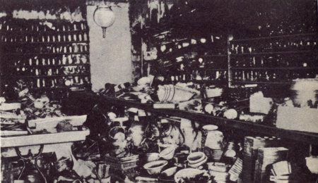 The interior of Frank Woolworth's favourite store, Lancaster Pennsylvania, which was rebuilt in 1905. The six story building had electric light throughout.
