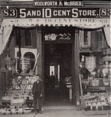 The Knox and McBrier Five and Ten Cent Store in Lockport, New York, pictured in 1890