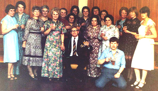 Staff and friends from a career spanning forty-two years gave William Pell a magnificent send-off when he retired in March 1981.