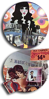 A glimpse of 1967 at Woolworths - Baby Doll cosmetics and Camden Super Budget LPs for 14/6d (72½p)