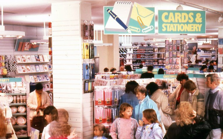 The cards and stationery ranges in a new look 'Operation Focus' comparison store in 1987