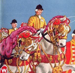 An artist's impression of one of the royal horsemen from the cover of the Coronation New Bond magazine.