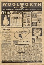 Click to open a larger view of this full page newspaper advertisement for electrical products from Ward and Goldstone in the Woolworths Golden Jubilee Sale in 1959. This was the first major, sustained press campaign by Woolworths