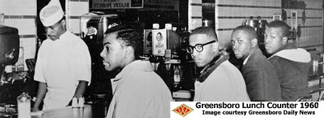 Greensboro Lunch Counter protesters at Woolworths.