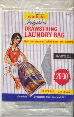 A Winfield laundry bag from F. W. Woolworth & Co. Ltd. in 1963