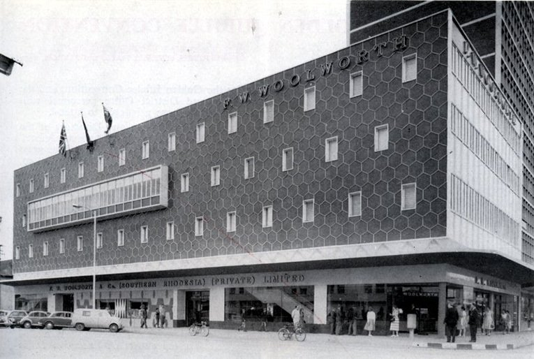 The F.W. Woolworth store in First Street, Salisbury, Zimbabwe (then called Rhodesia), which opened in 1958.