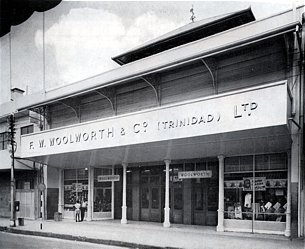 Port of Spain - the first Woolworths in Trinidad, which opened in 1955