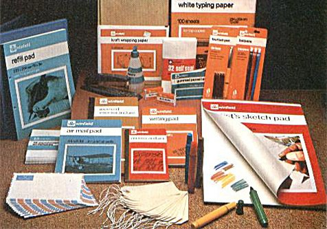 Winfield branded stationery at Woolworths was deemed old-fashioned and out-of-touch by the firm's new owners in the 1980s