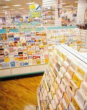 New fixtures marked the introduction of higher-priced greetings cards from leading suppliers including Hallmark and Celebration Arts, and larger displays of up-market wrapping paper