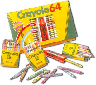 Crayola crayons were a popular addition to the Woolworths range in the late 1980s