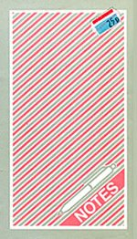 The pink stripey design of notebooks and folders boosted sales four-fold compared with the previous single colour designs