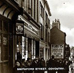 F.W. Woolworth in Smithford Street, Coventry in happier times before the war