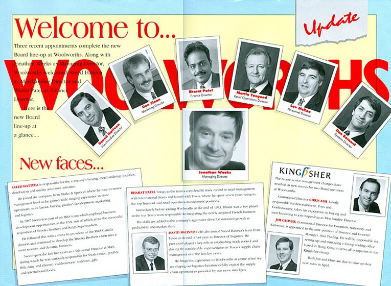 A new Board in 1994 - with more than half of the Directors moving on to new roles or leaving the Group