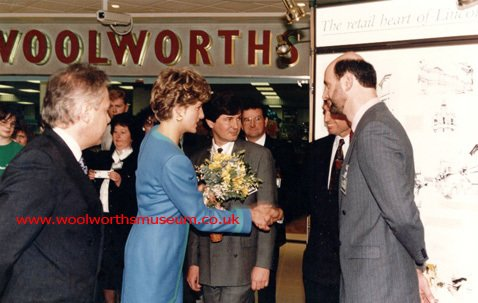 HRH The Princess of Wales opens Woolworths in the Watergate Centre 'the heart of Lincoln' and indeed the heart of the nation on 3 October 1991