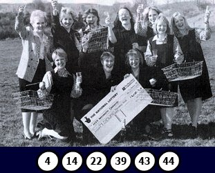That's the wonga of Woolies, as a syndicate of colleagues scooped £287,211 each in a £4m lottery win.  They all stayed with their store in Leek, Staffordshire