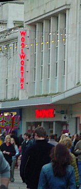 The large City Centre Woolworths store the stood in Commercial Road, Portsmouth