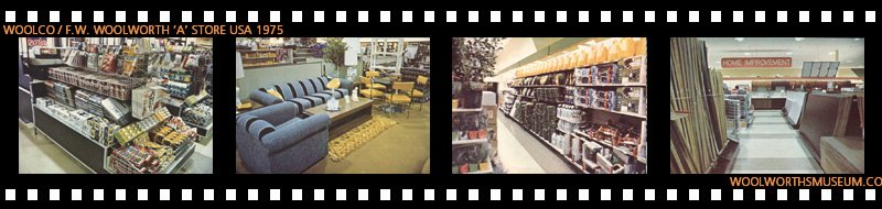 Impulse purchase counters at the checkout, furniture, gardening and home improvement ranges at Woolco in 1975