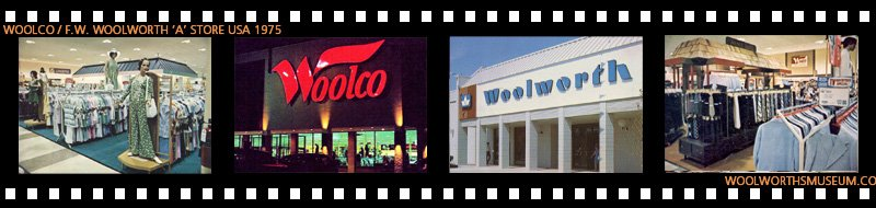 Snapshots of the styling of Woolco and Woolworth 'A' Stores in the layout favoured by Chief Operating Officer W. Robert Harris in the late 1970s