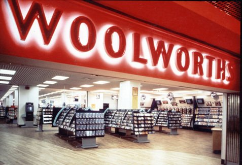 Woolworths in Hounslow, West London was refitted and extended in 1993 as a prototype for the future. It included a touch-screen sceen ordering kiosk, developed by Julia Schofield Consultants and ICL Retail, which later won an award as the best interactive multimedia system in the world from the Interactive Multimedia in Retail Group (IMRG)