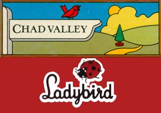 The Chad Valley and Ladybird logos at their respective launches as Woolworths own brands in 1985 and 1987