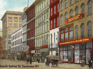The Syracuse branch of the F. W. Woolworth Five-and-Ten Cent Store chain in Upstate New York
