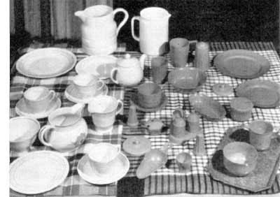 Some of the wide selection of china that was sold in Woolworths for threepence (approximately 1.5p) in the 1920s and 1930s