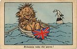 Britannia rules the waves - a patriotic British postcard from the First World War
