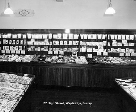 The new F.W. Woolworth store in Weybridge, Surrey, which opened in 1946, seven years after building work was completed.  In the interim the building had served as a relief headquarters