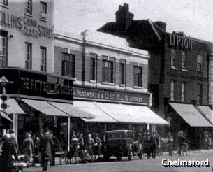 The Woolies store in High Street, Chelmsford, Essex was hit by an incendiary bomb in 1941, but survived to tell the tale