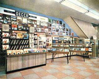 The record department at Woolworths in Gallowtree Gate, Leicester, England in 1965