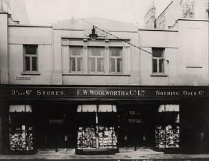 The F. W. Woolworth store in Spurriergate, York, which opened in 1924. The building was sold for redevelopment in the early 2000s