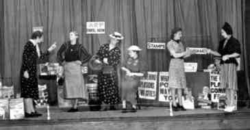 Staff from Woolworth's Metropolitan Regional Office put on a play about the ARP in 1937.  Two years later they were doing it for real.