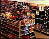 The Gifts and Sweets range in a typical small older Woolworths store during the 1980s Operation Focus initiative