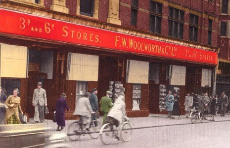 Woolworths in Croydon fortified for the blitz in Christmas 1939.  (Image with many thanks to the Croydon Local Studies Unit)