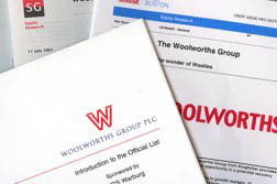 The prospectus and demerger documents that launched the new independent Woolworths Group plc in the UK in 2001