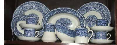 This 'Fibre' pattern china was a particular favourite at the turn of the twentieth century. The china graced the shelves of F. W. Woolworth store across North America and in Great Britain and Ireland