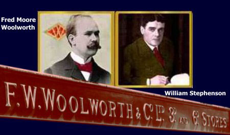 Fred Moore Woolworth (left) and William Lawrence Stephenson (Right), the first two Managng Directors of F. W. Woolworth & Co. Limited in the UK. These two men shaped the company and set it on the road to success.