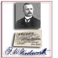 A visit and business card from Frank Woolworth could be the key to a large and lucrative contract for European factories in the 1890s