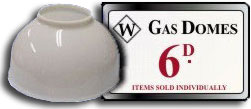 Porcelain Gas Light Domes (shades for a gas light)  - a sixpenny best seller from Woolworths in the 1910s and 1920s