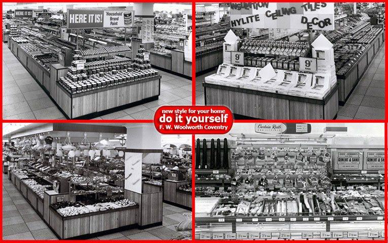 Launch of a whole new concept - Do It Yourself - a Woolworths first in the 1950s